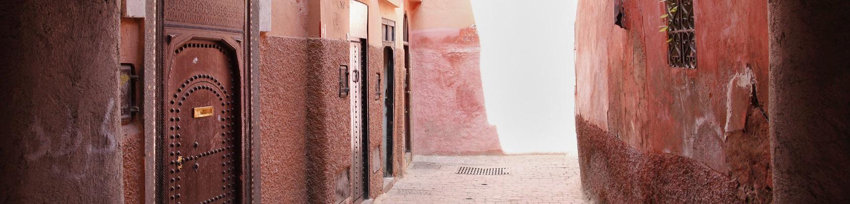 Rote Häuser Altstadt Marrakesch Marokko