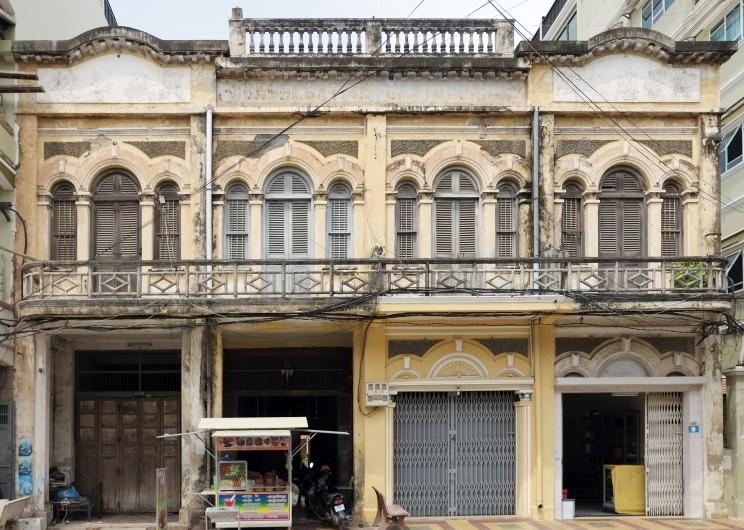reise-ansichten Battambang Handelshäuser