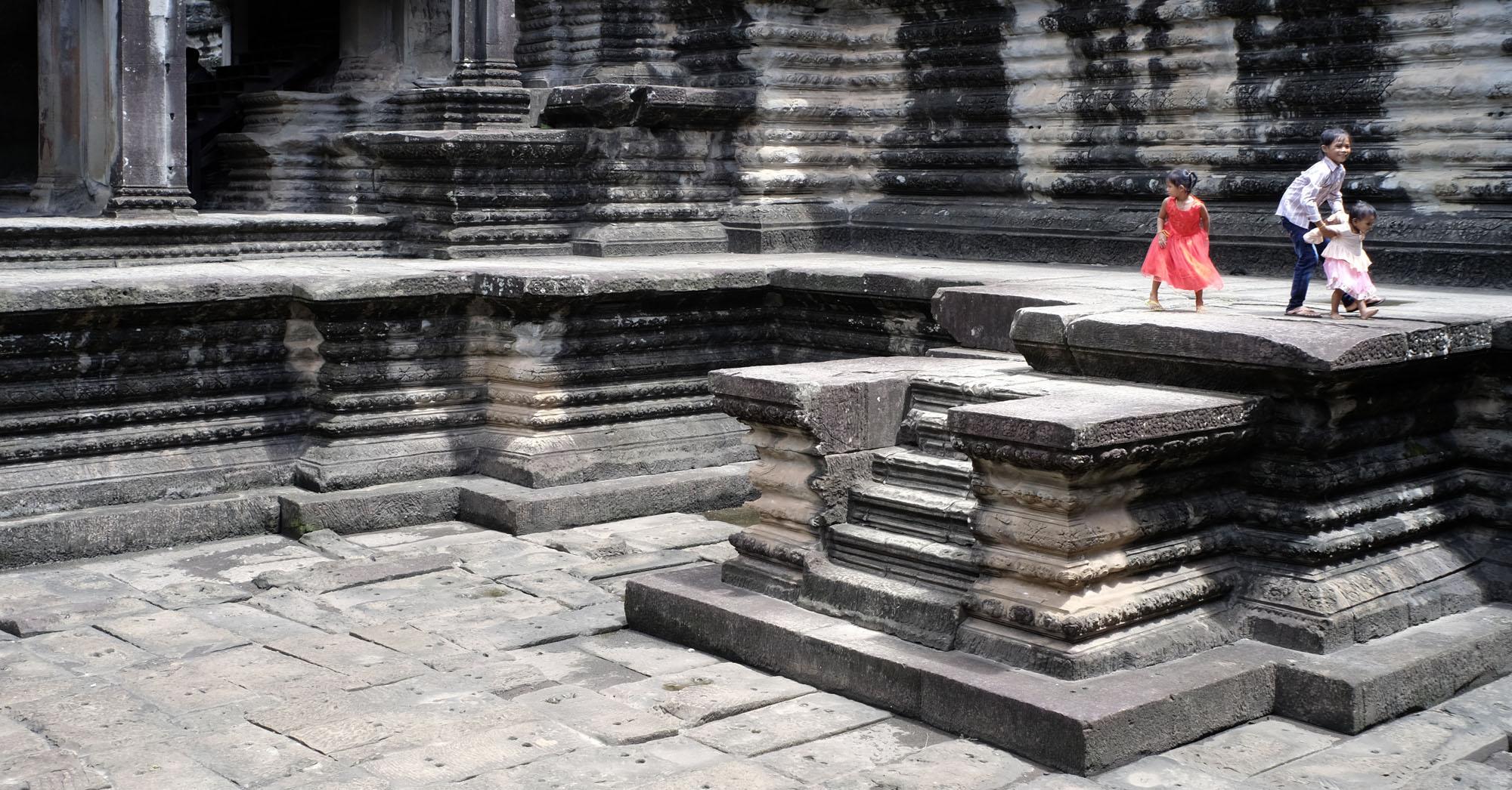 reise-ansichten Angkor Wat Wasserbecken
