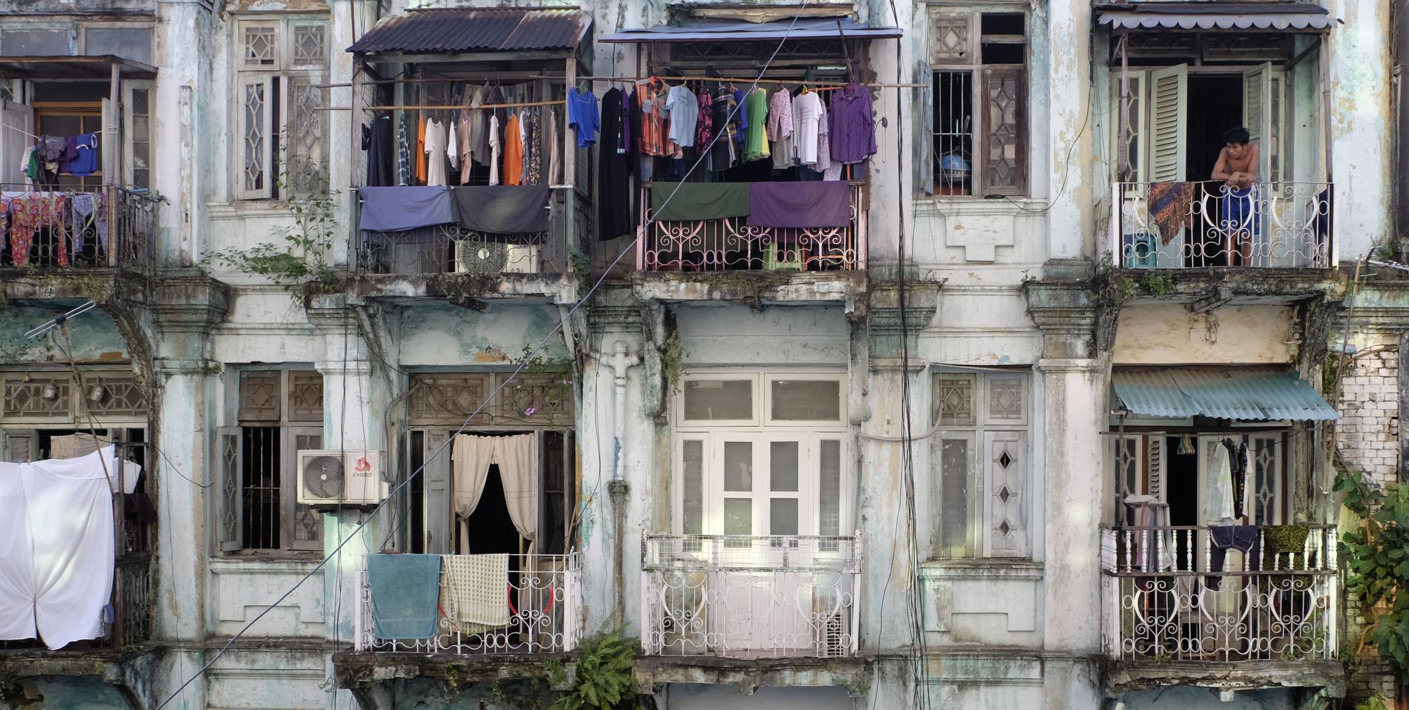 reise-ansichten Yangon Altstadt