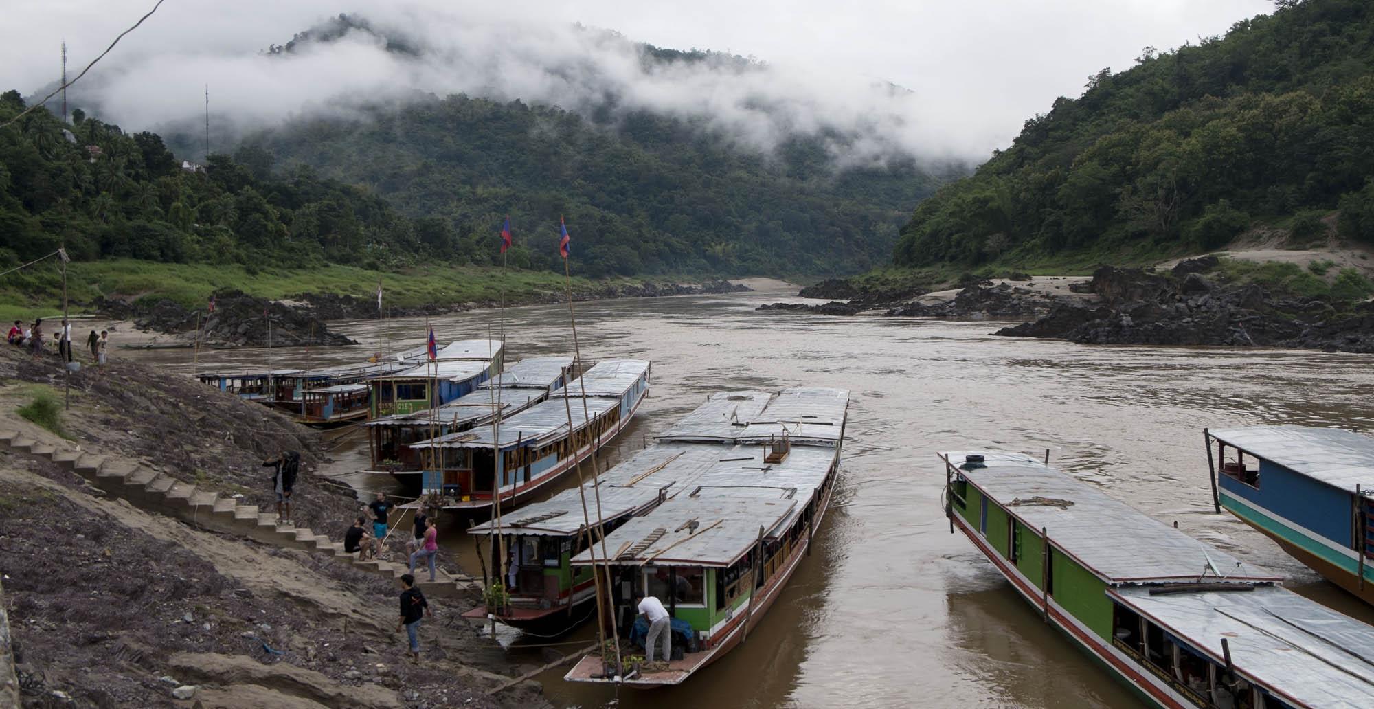 reise-ansichten slow boat Mekong