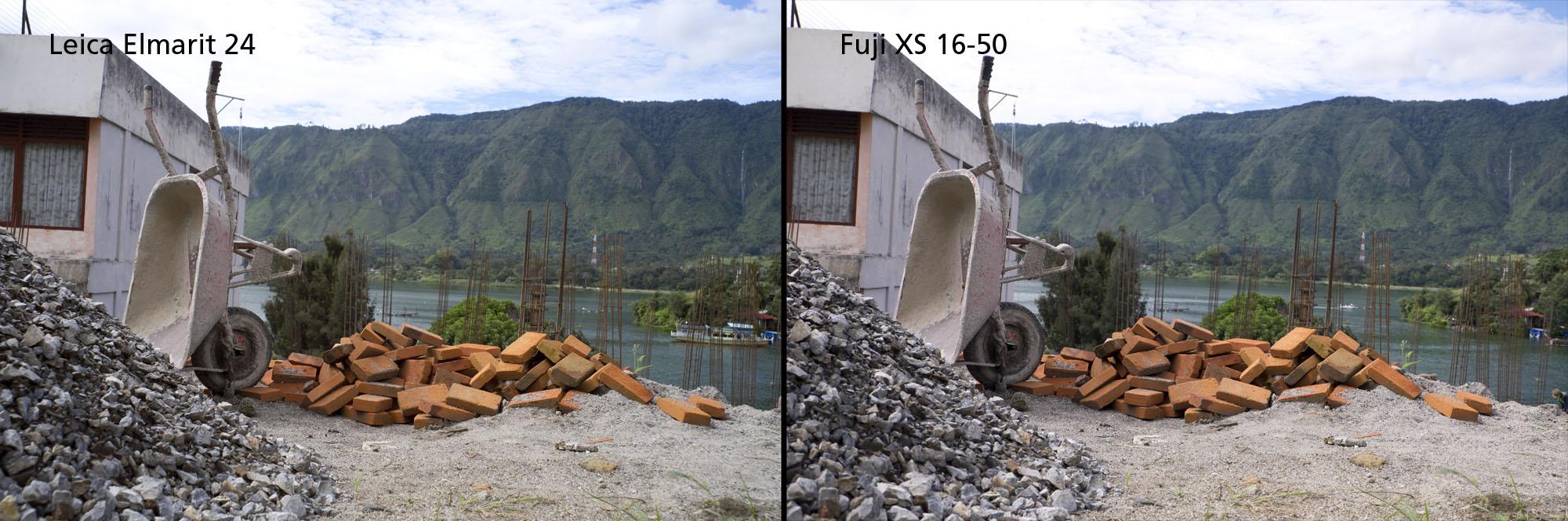 Test Fuji XS 16-50 versus Leica M Elmarit 24