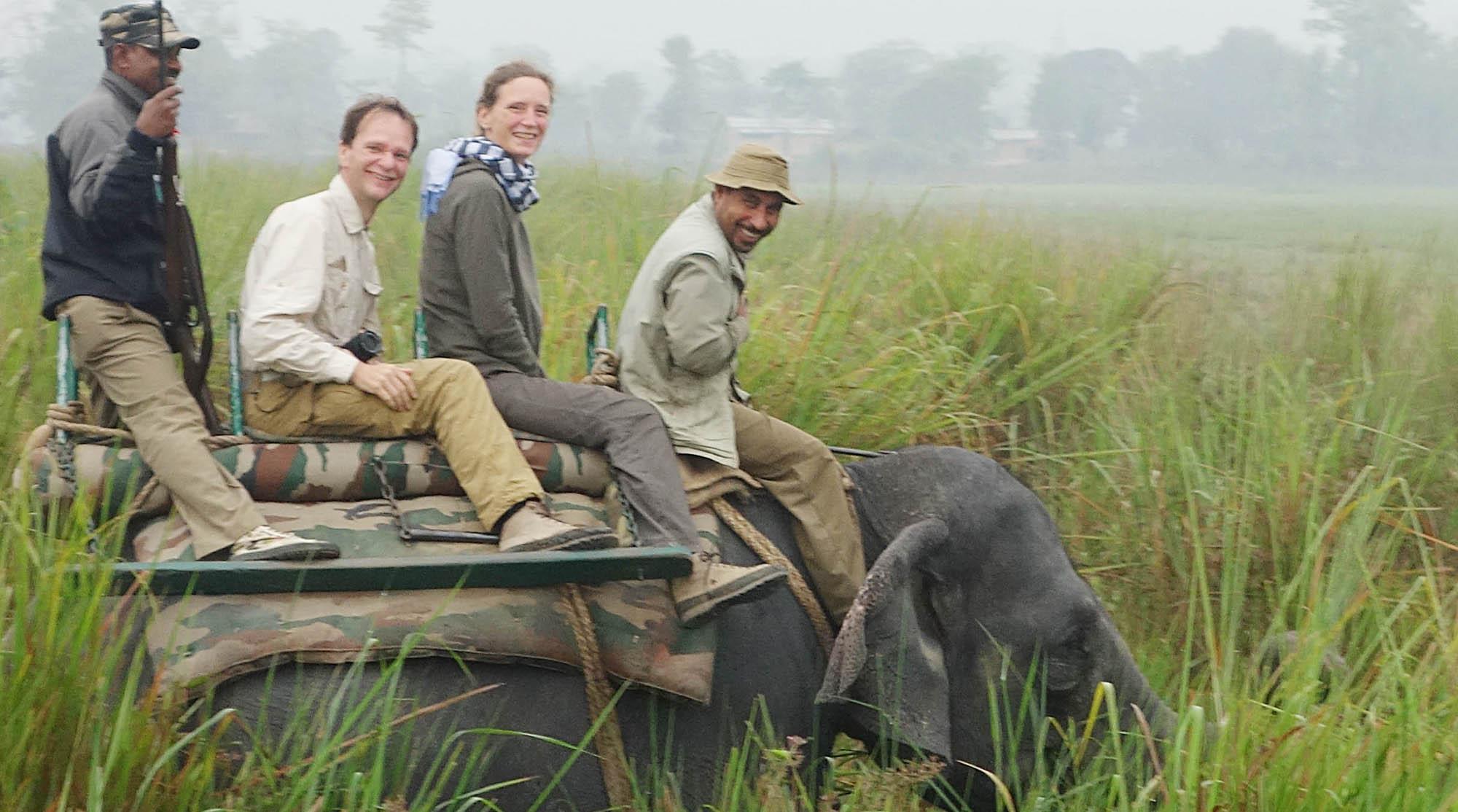 reise-ansichten Elefantensafari Kaziranga