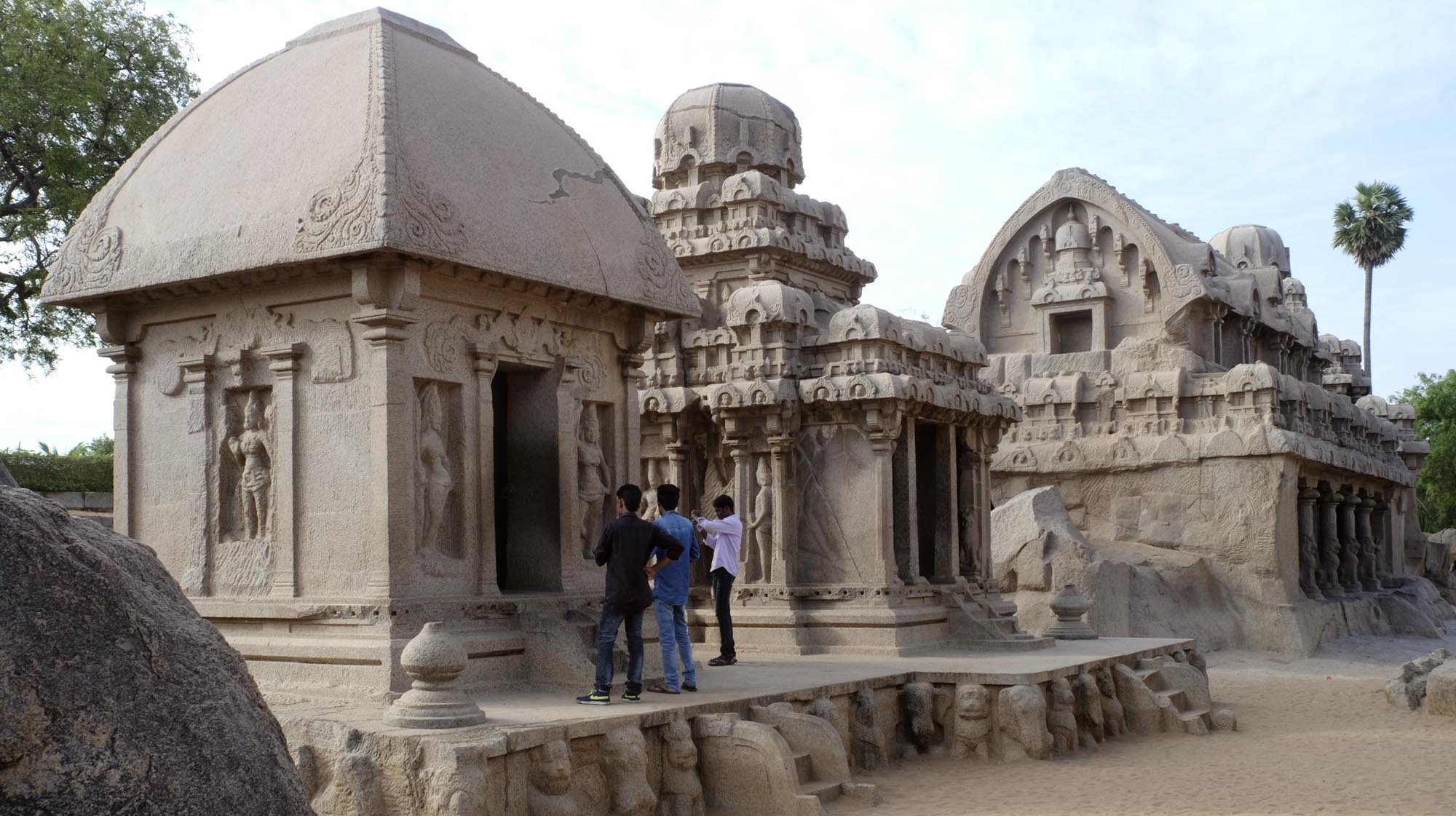 reise-ansichten Mamallapuram 5 Rathas