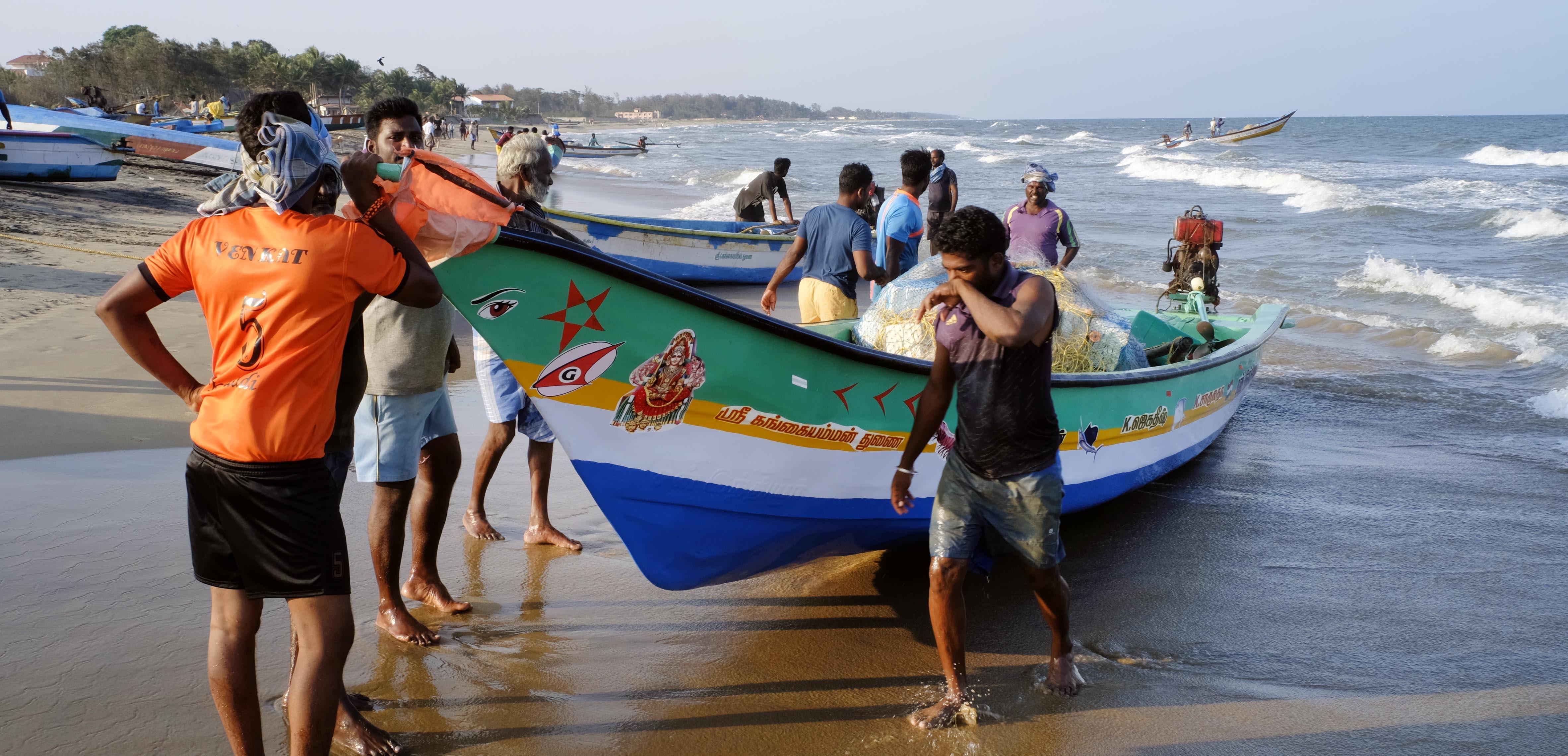reise-ansichten Mamallapuram Boote