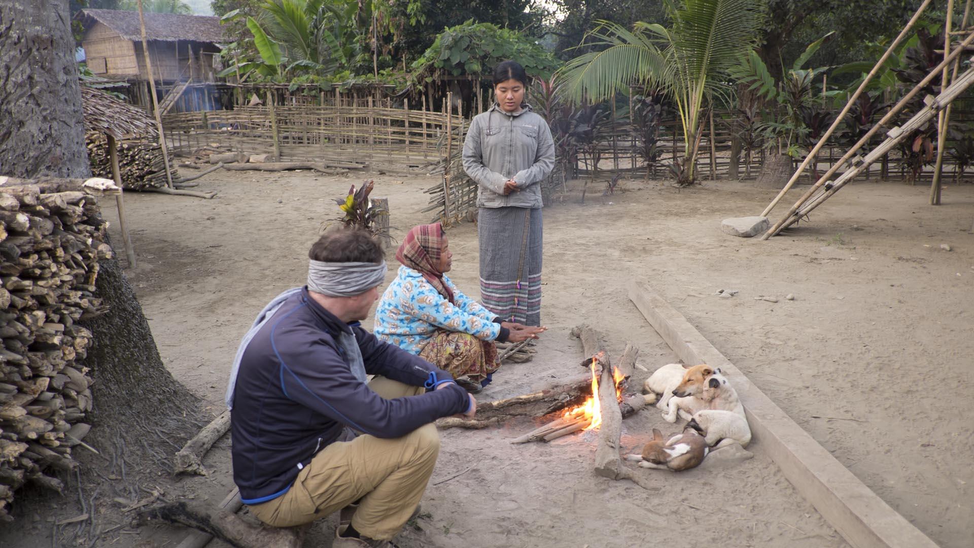 reise-ansichten Chin Dorf