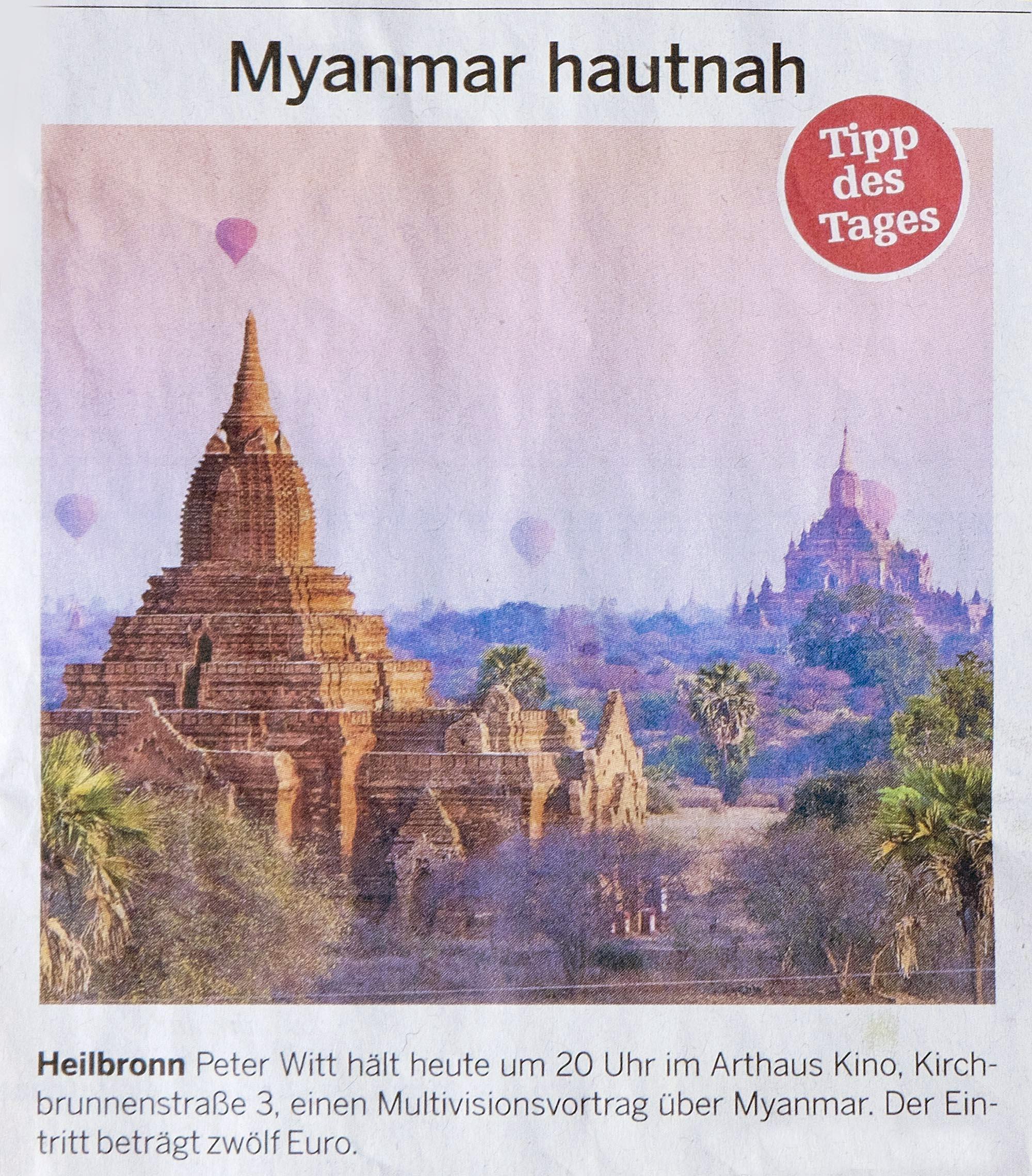 heilbronner stimme zu myanmar hautnah