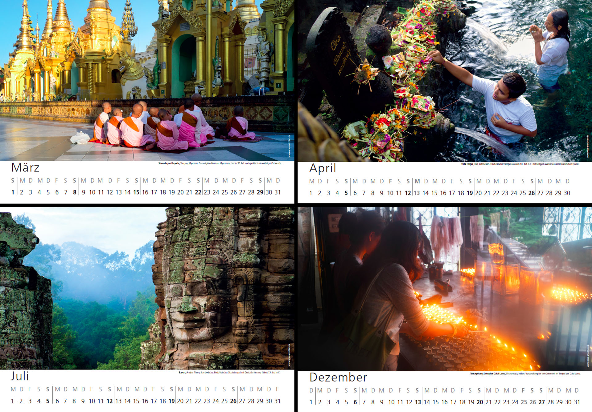 reise-ansichten wandkalender 2020